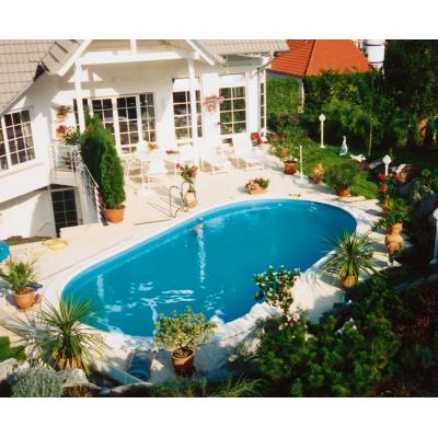 Ovalbecken Swim 450x300x120cm Ih0,6mm blau